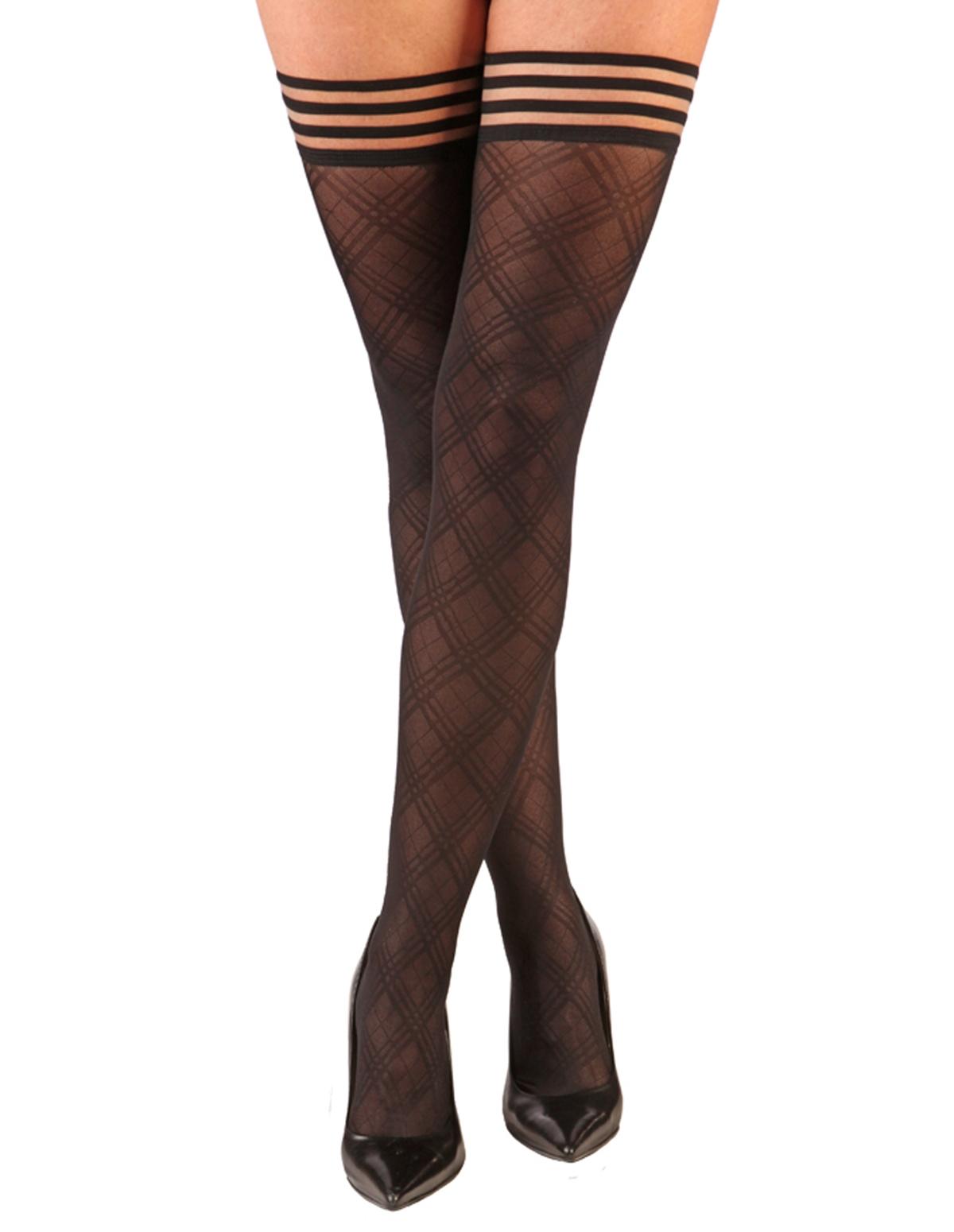 Tiffany Sheer Diamond Thigh Highs