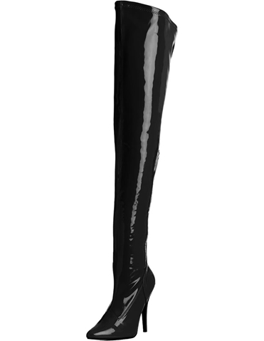 BETTIE 5 INCH PATENT THIGH HIGH BOOT
