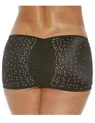 STUDDED SCRUNCH BACK SKIRT