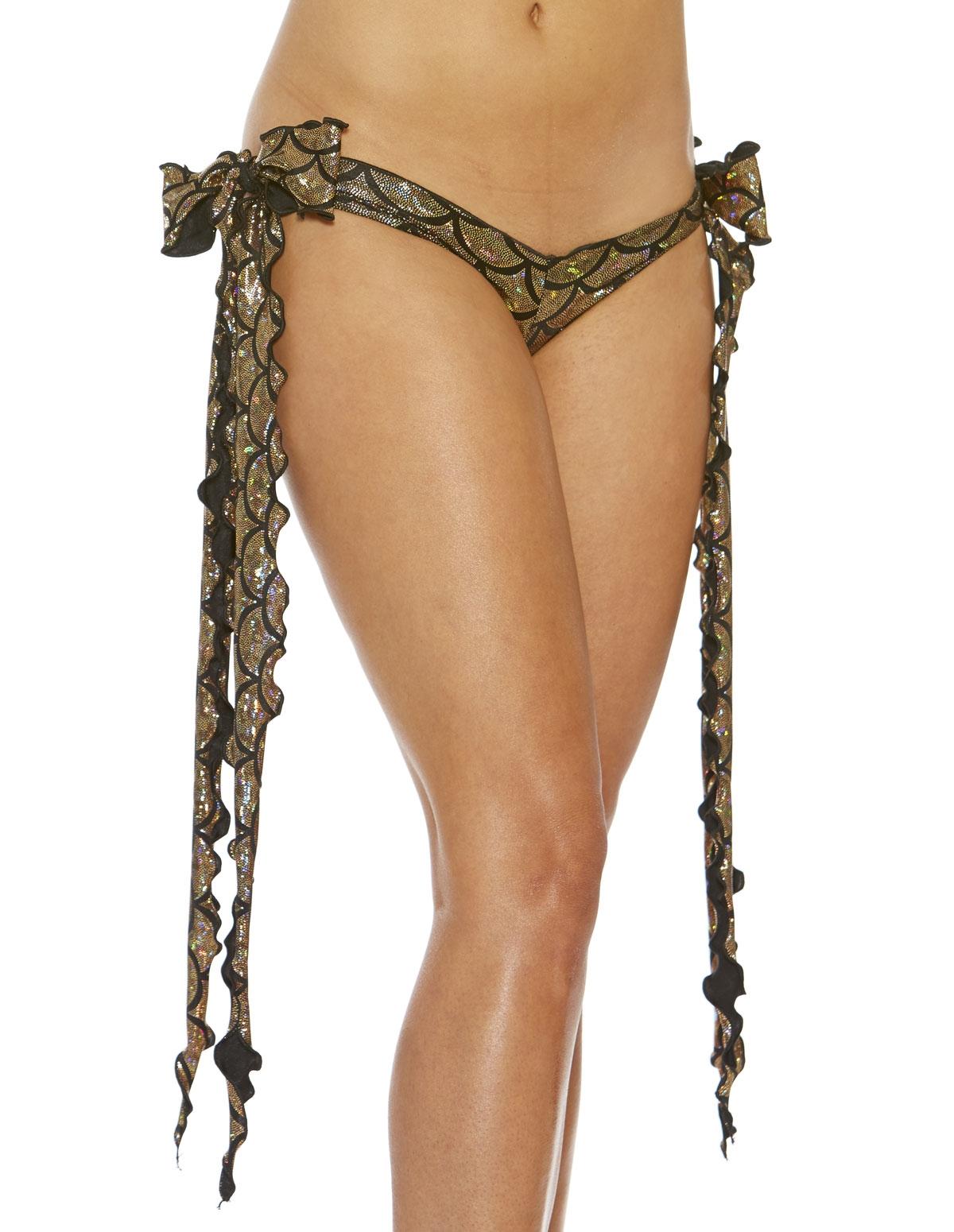 Mermaid Metallic Ribbon Tie Shorts