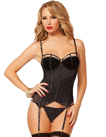 GLITTERATI BUSTIER WITH G-STRING