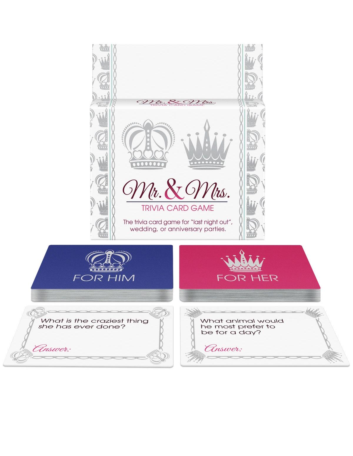 Mr & Mrs Trivia Card Game