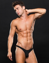 MICROFIBER ZIP UP LOW-RISE THONG