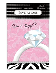 DIAMOND BACHELORETTE PARTY INVITATIONS