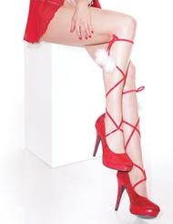 SANTA GIRL LEG TIES