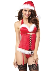 SANTA SEDUCTION BRA & CINCHER SET
