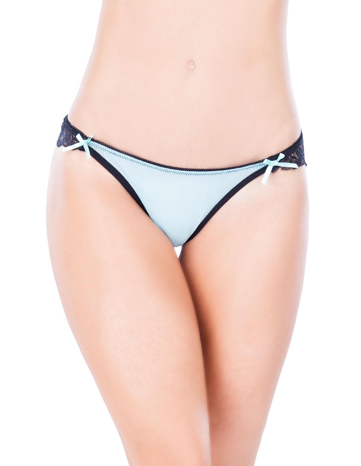 Put A Bow On It Crotchless Panty - Reg & Plus