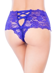 LACE UP CROTCHLESS BOYSHORT - REG & PLUS