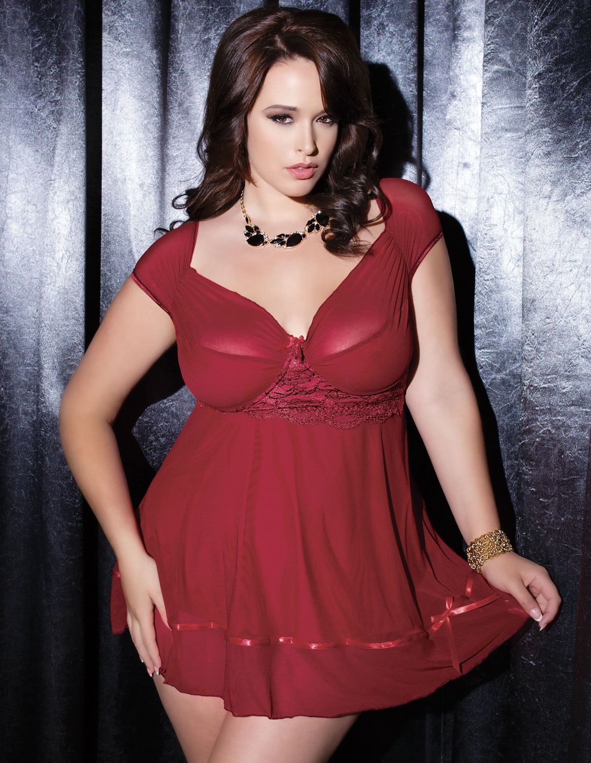 Merlot Magic Babydoll - Plus