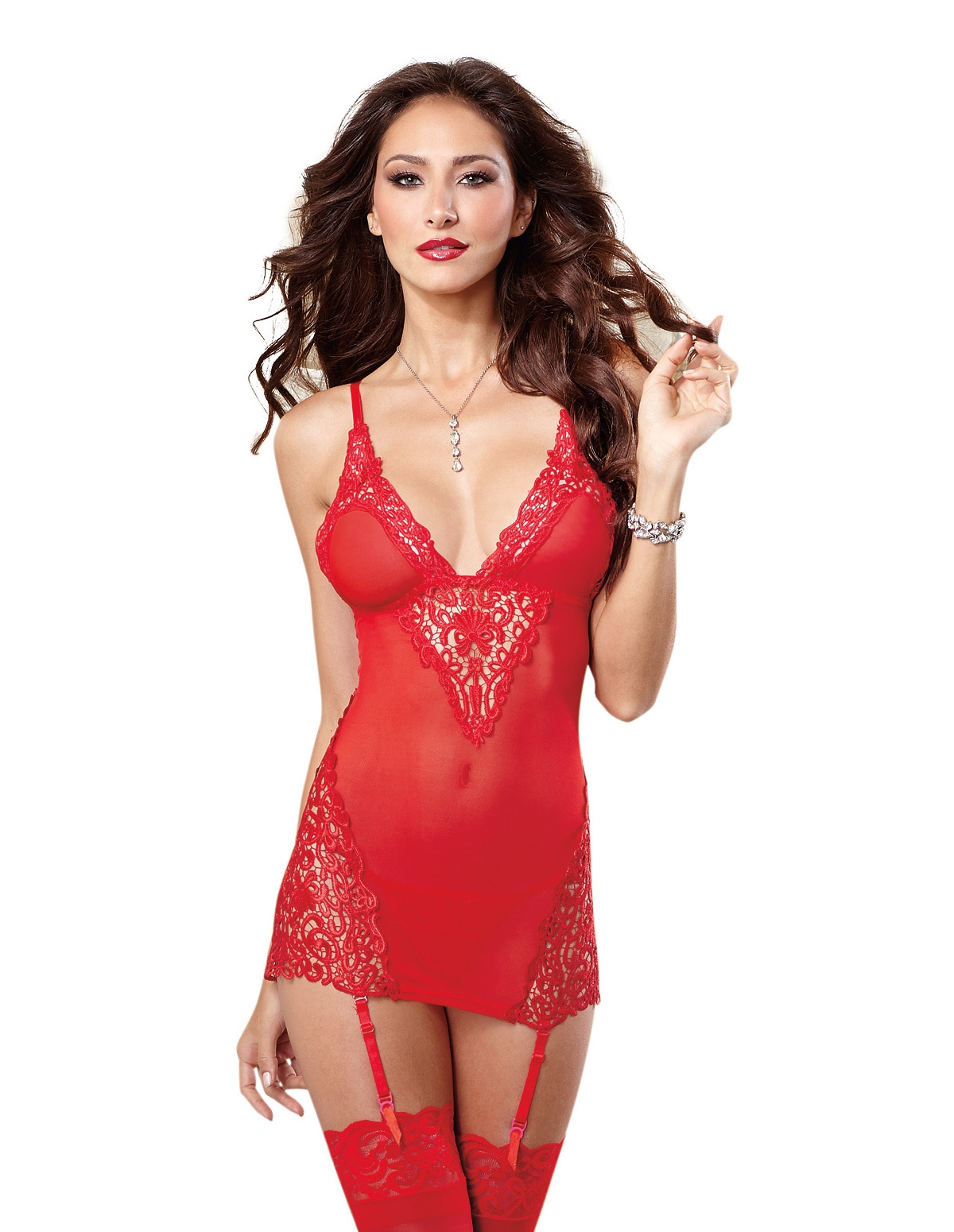 Venice Embroidered Applique Chemise