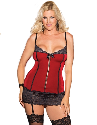 PIN-UP VELVET CHEMISE - PLUS