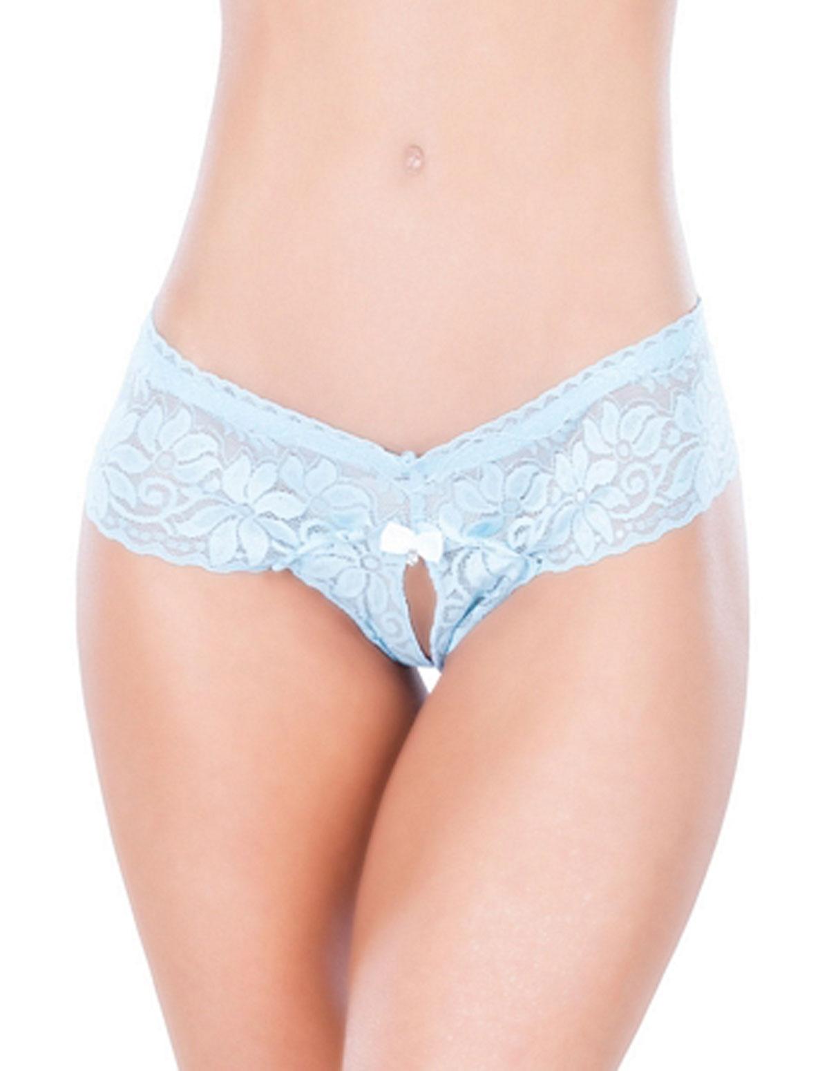 Something Blue Lace Bridal Thong