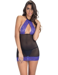 TAKE A PEEK LACE HALTER CHEMISE