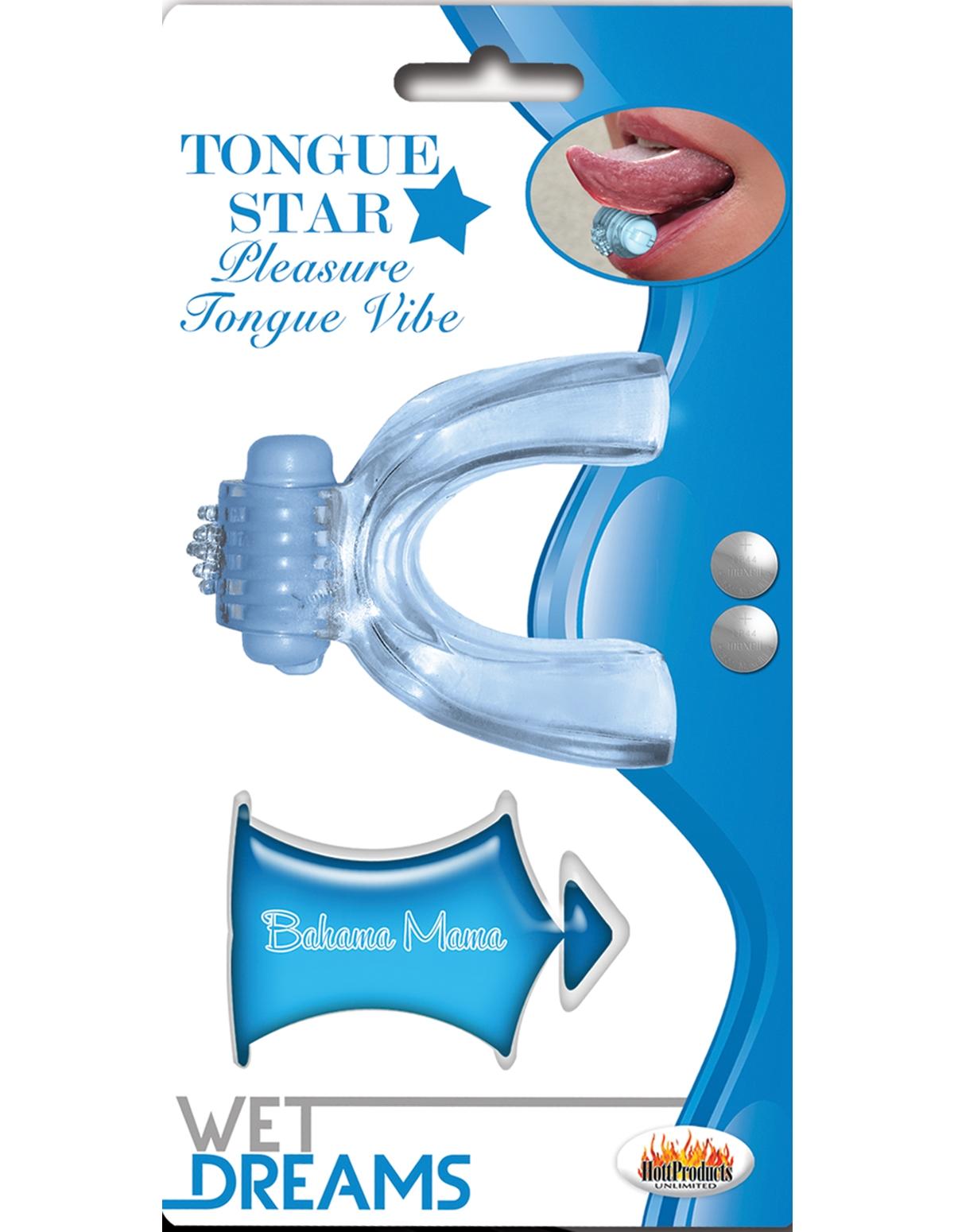 Tongue Star Vibrator With Liquor Lube