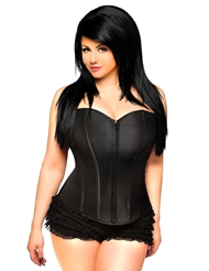 LAVISH SWEETHEART CORSET FRONT ZIPPER - PLUS