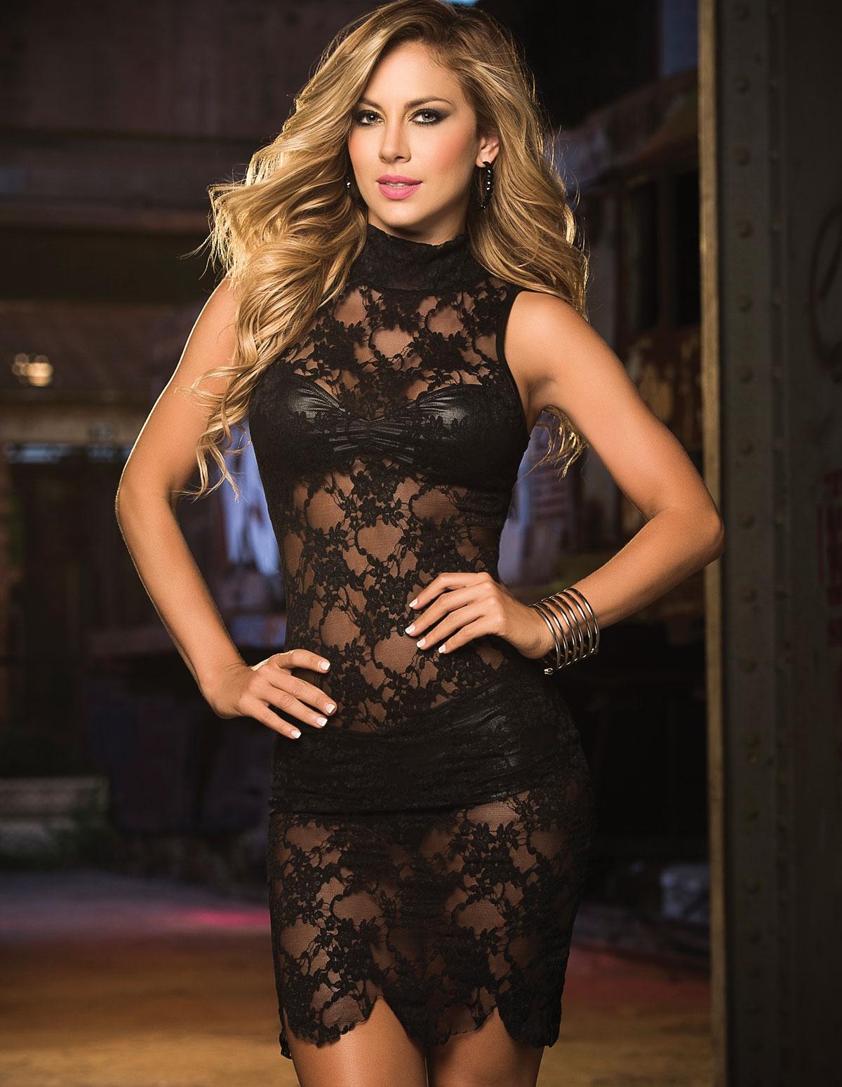 Sleeveless Lace Dress Set