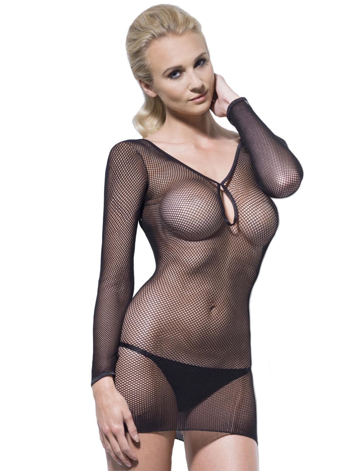Fishnet Keyhole Dress