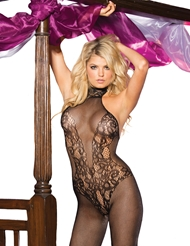 HALTER NECK FISHNET BODYSTOCKING