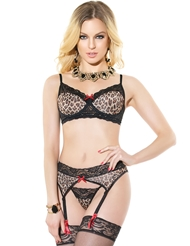 LADY LEOPARD 3PC BRA SET