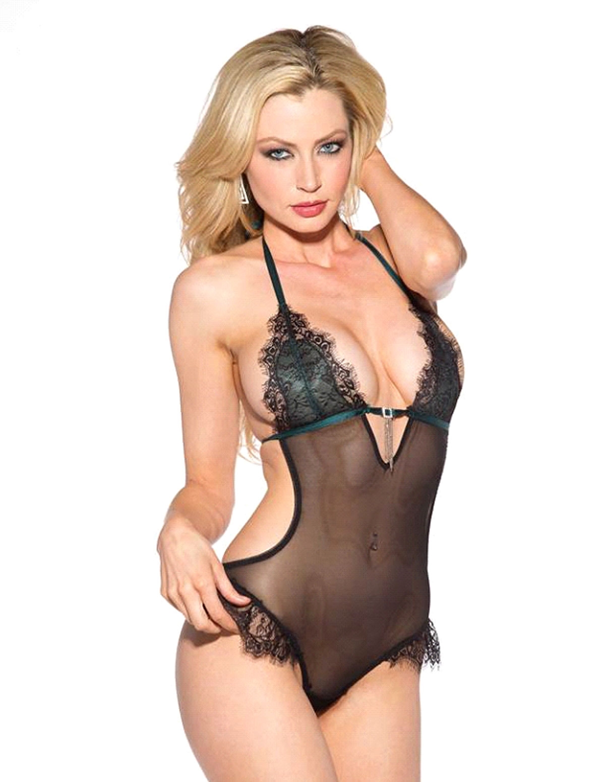 Lace Net Teddy