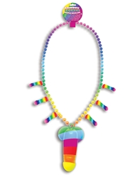 RAINBOW WHISTLE PECKER NECKLACE