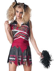 SPIRITLESS CHEERLEADER ZOMBIE COSTUME