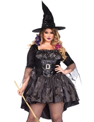 BLACK MAGIC MISTRESS COSTUME - PLUS