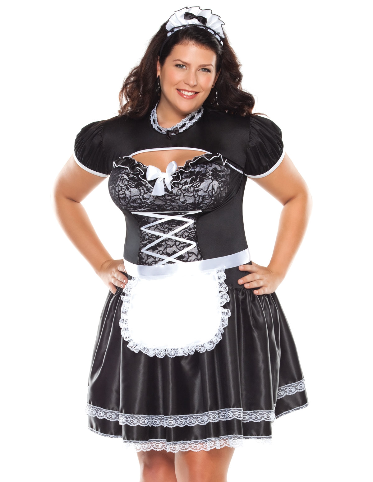 Flirty French Maid Costume - Plus
