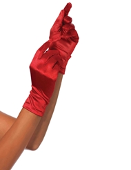 SATIN WRIST LENGTH GLOVES