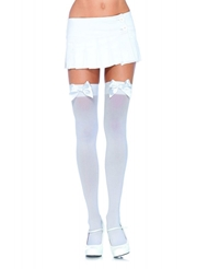 OPAQUE THIGH HIGH WITH BOW