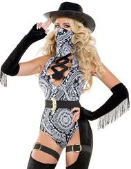 STRAPPED UP COWGIRL COSTUME