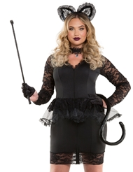 MS. MEOW LACE KITTY COSTUME - PLUS