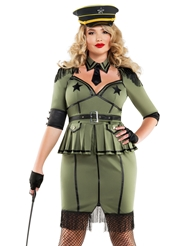 ARMY BRAT DIVA COSTUME - PLUS