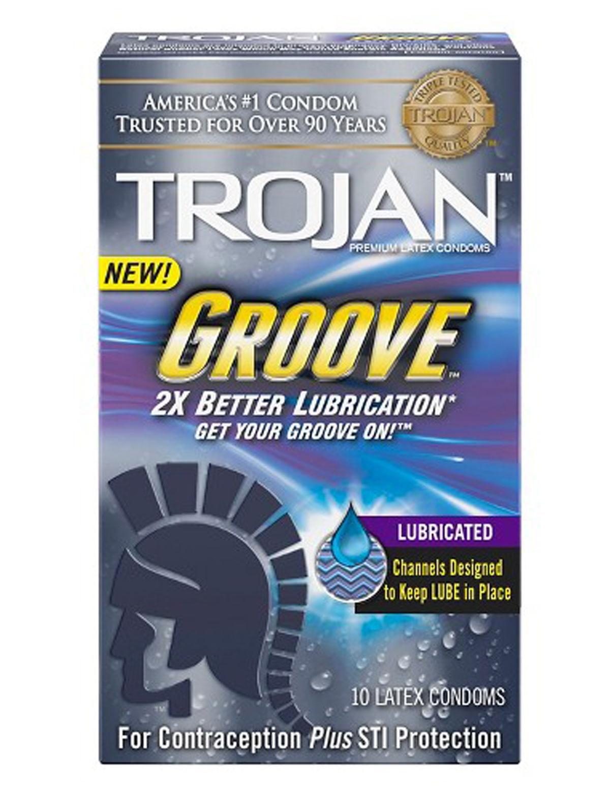 Trojan Groove Condoms 10Pk