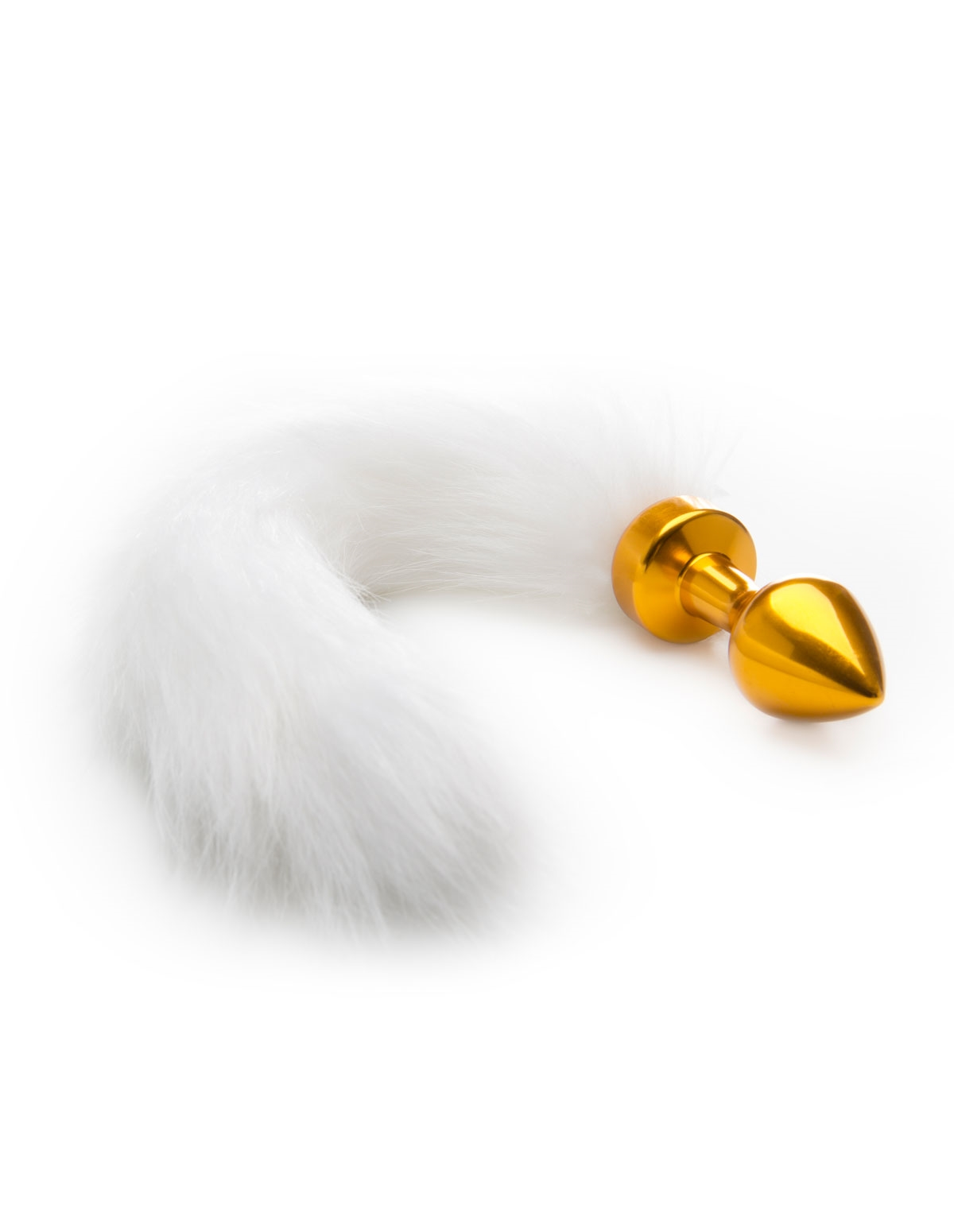 Faux Fur Snow Fox Gold Plug