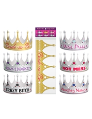 BRIDE TO BE PARTY CROWNS