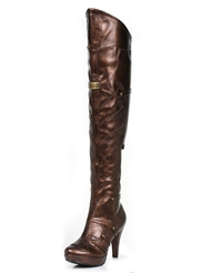 BLAIR BRONZE OVER THE KNEE BOOT
