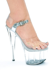 BROOK CLEAR PLATFORM STILETTO 7-INCH