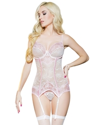 PRECIOUS LACE TWO-TONE BUSTIER
