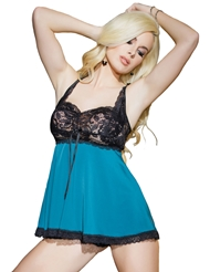 STAGE BEAUTY LACE HALTER BABYDOLL