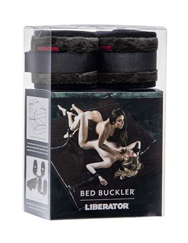 BED BUCKLER KIT WITH CUFFS AND BLINDFOLD