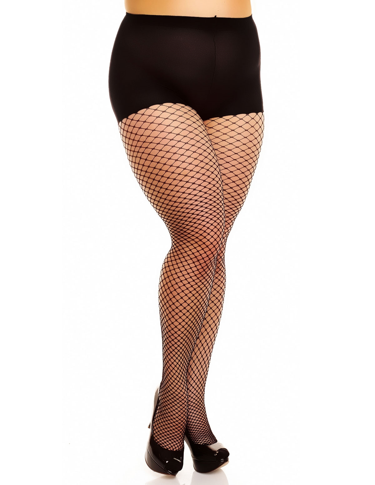 Mesh Fishnet Tights - Plus