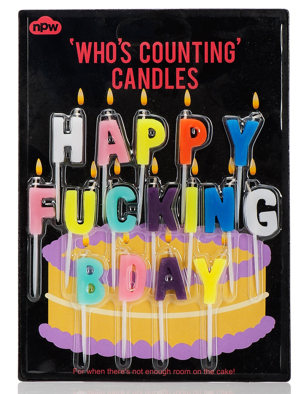 Happy F-Ing Birthday Candles