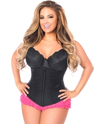 LAVISH UNDERBUST CORSET WITH ZIPPER - PLUS