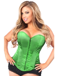 LAVISH GREEN SWEETHEART CORSET - PLUS