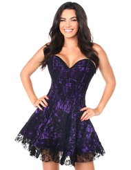LAVISH LACE CORSET DRESS PURPLE