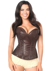 WARRIOR GIRL CORSET BROWN - PLUS