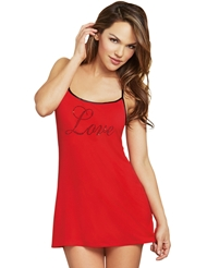 LOVE ME SOFTLY HEART CUT-OUT CHEMISE