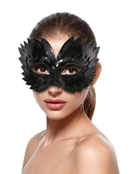 SHINY BLACK RAVEN MASK