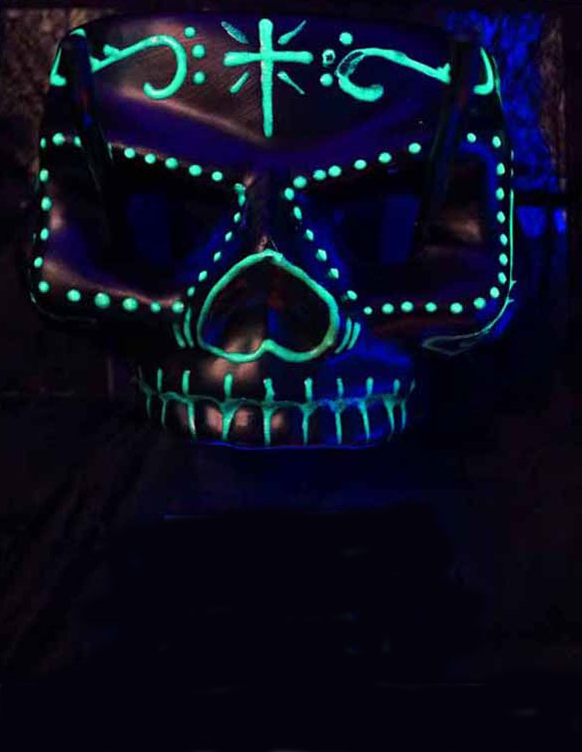 Glow In The Dark Skull Mask